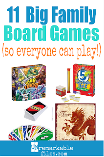 Having a hard time finding board games that let every member of your big family play? As a family of 8, we have that problem ALL the time. Here are 11 of the best board games for kids and parents that we love. Large families of 6, 8, 10, and 12+ can all play together at family game night! #boardgames #giftideas #familygift #bigfamilies #largefamily #wholefamily