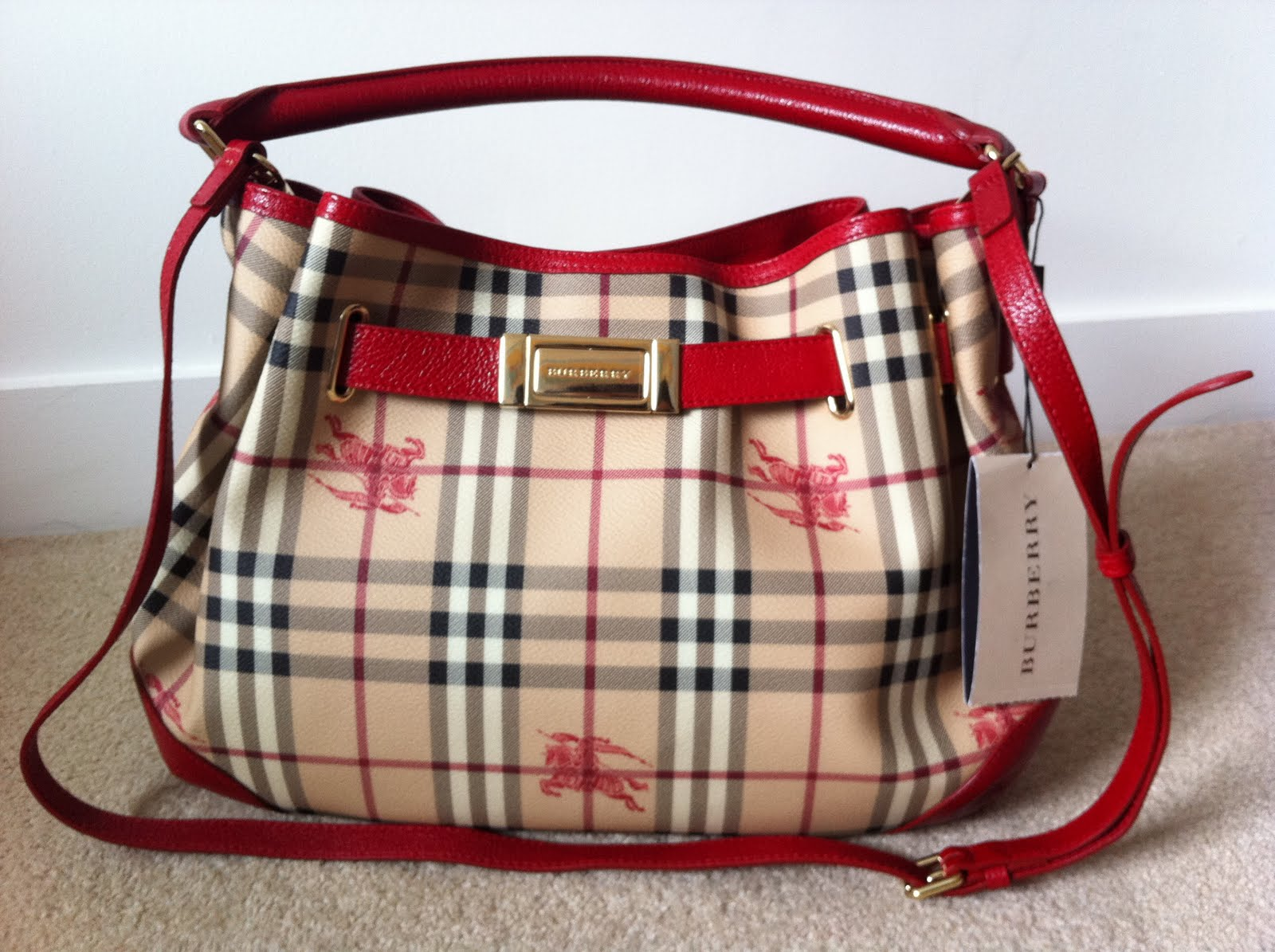 Discounted Genuine Handbags  (New) Authentic Burberry Hobo Bag For Sale 147aa88bb4038