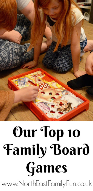 Our Top 10 Family Board Games for children aged 4 - 9 years old