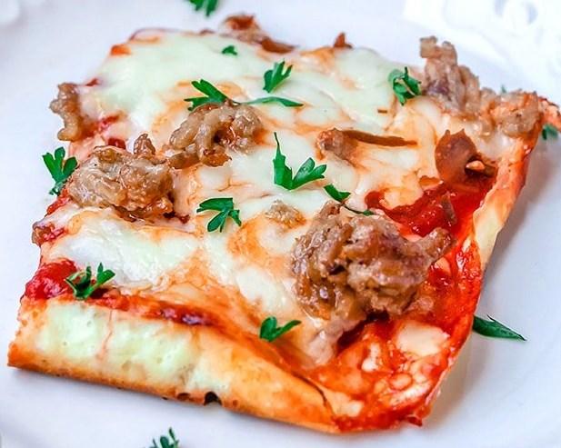 ALMOST NO CARB PIZZA RECIPE #NoCarb #Pizza