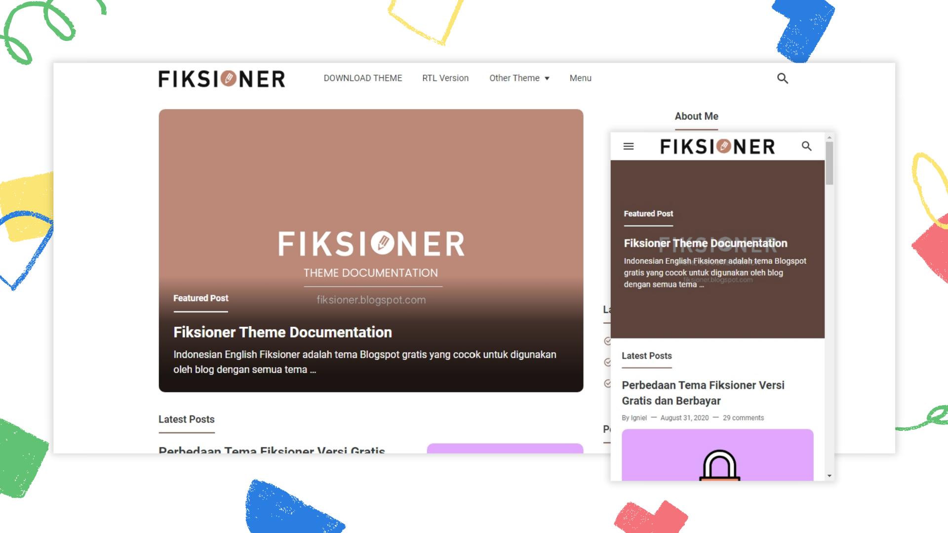 fiksioner-premium-blogger-template