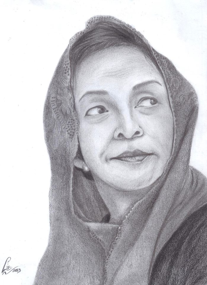 My Best Drawing Alm Ibu Ainun Habibie
