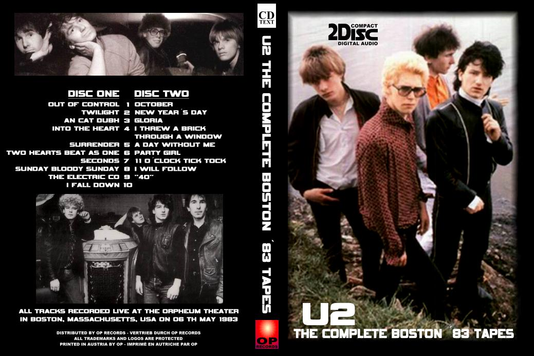 U2 [1983 05 06] Orpheum Theatre (Boston, MA) EX-AUD