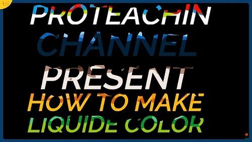 دورة تعلم وشرح filmora 9 عمل تأثير نص ملون بالسائل Color liquid Text Effect