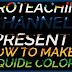 دورة تعلم وشرح filmora 9 عمل تأثير نص ملون بالسائل Color Splash Text Effect