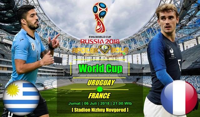 Prediksi Uruguay Vs Perancis 6 Juli 2018