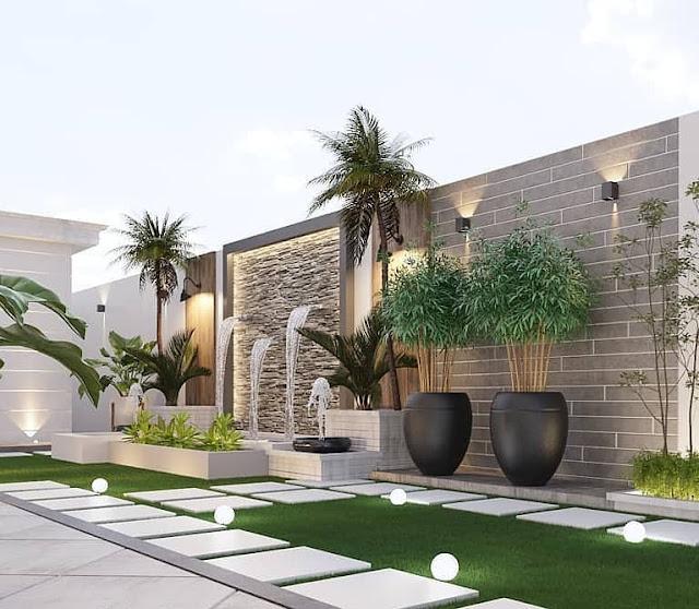 تصميم حدائق فلل صغيرة تنسيق حدائق بيوت جدة