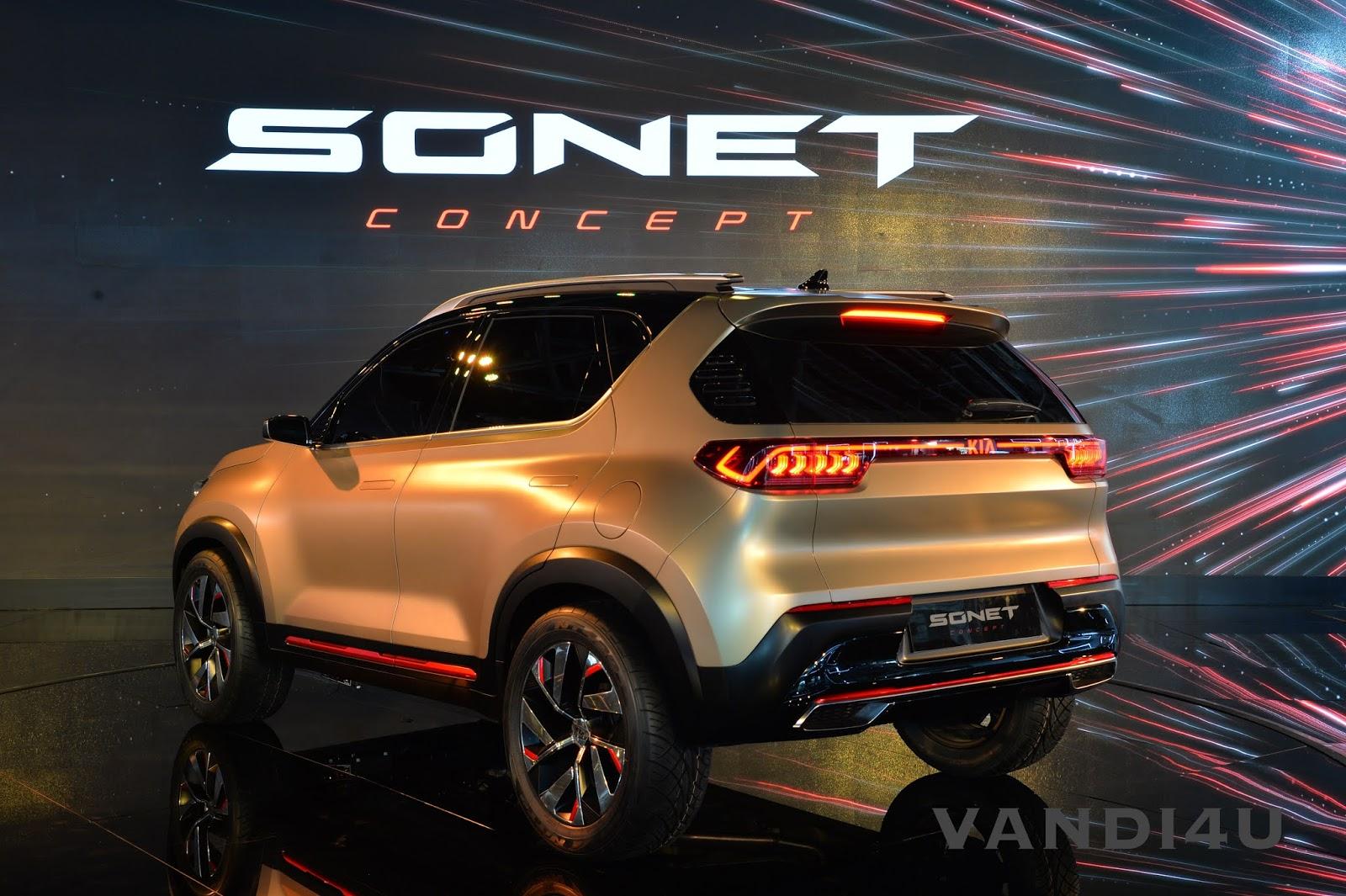 Kia's Compact SUV Sonet unveiled at Auto Expo 2020 | VANDI4U
