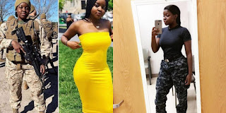 Photos: Meet Raven Nicole Williams the beautiful dark skin US Navy lady who went viral for slaying both in the Military uniform and in a causal wear