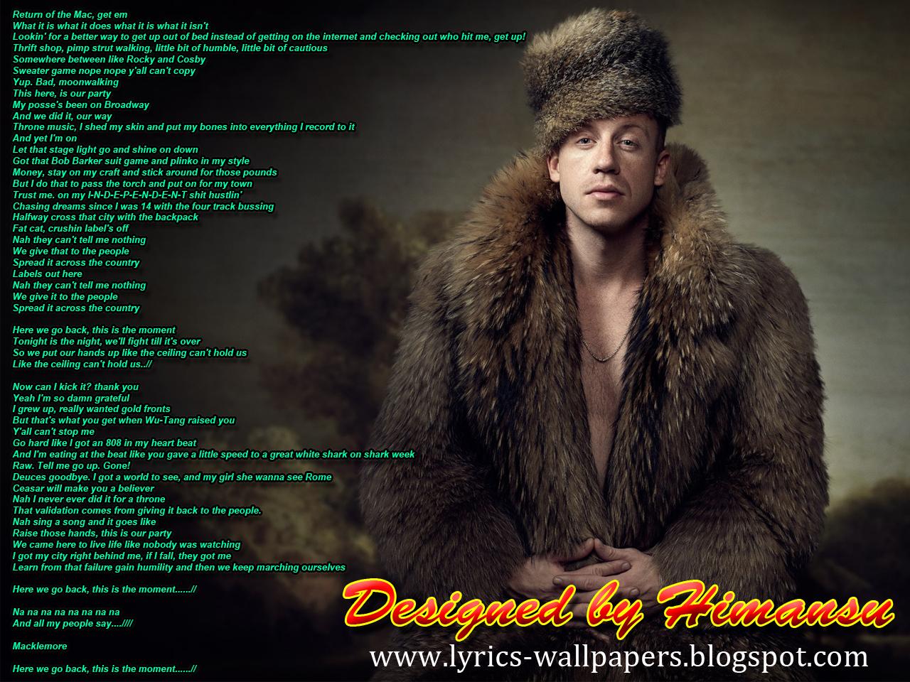 Lyrics Wallpapers: Macklemore