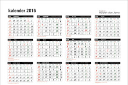 template kalender 2016 lengkap jawa dan hijriyah gratis CDR