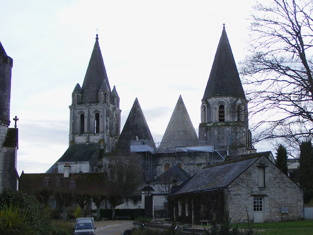 Restoration of St Ours church, Loches.  Indre et Loire, France. Photographed by Susan Walter. Tour the Loire Valley with a classic car and a private guide.