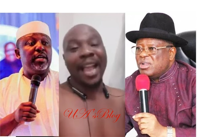 Ekweremadu: Watch man threaten to break Okorocha's leg, bite off Umahi's ears if they come to Turkey (Video)