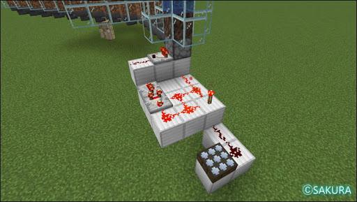 Minecraft 自動小麦農場 水流式アイテムエレベーターのクロック回路