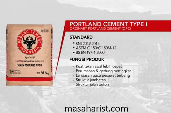 Portland Cement Type I –Ordinary Portland Cement (OPC)Portland Cement Type I –Ordinary Portland Cement (OPC)