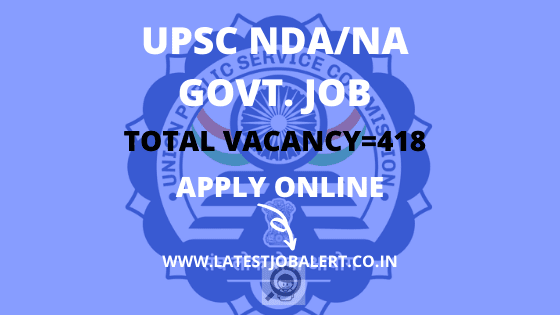 UPSC NDA Recruitment Online Form 2020|Apply online