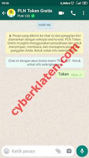 Token Gratis Melalui Aplikasi Whatsapp