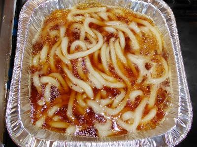 納豆に五木食品の鍋焼すき焼風うどん