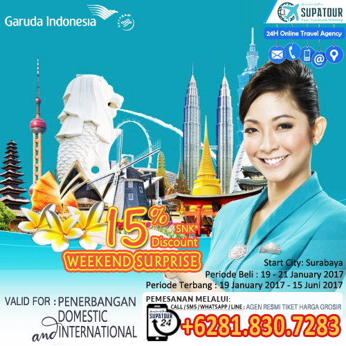 Garuda Ticket 15% OFF