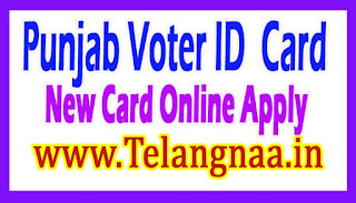 Punjab New Voter ID Card Online Apply