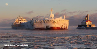 Laker ship entering Duluth Ship Canal Rice Rice Duluth MN