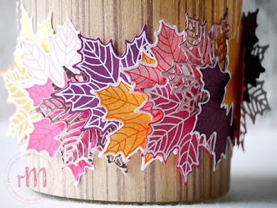 Stampin' Up! rosa Mädchen Kulmbach: Kreativ Trip: Bunte Blätter fallen – Herbstliches Teelichtglas in Holzoptik mit Jahr voller Farben