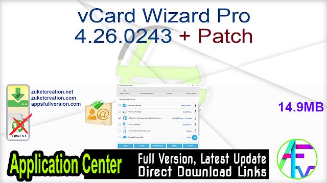 vCard Wizard Pro 4.26.0243 + Patch