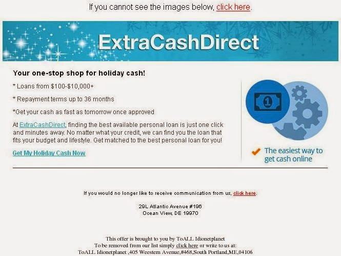 Email Scams: (your email) Our records indicate you have cash