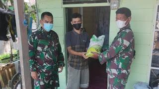 Zidam berbagi di Desa Tanjung Mekar
