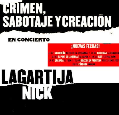 Lagartija Nick nuevas fechas gira