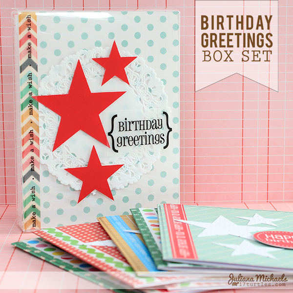 Birthday Greetings Box Set for SRM Stickers by Juliana Michaels