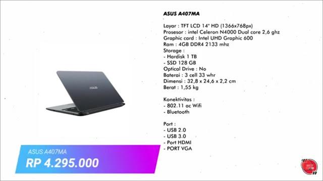 laptop asus terbaik dengan harga 4 jutaan