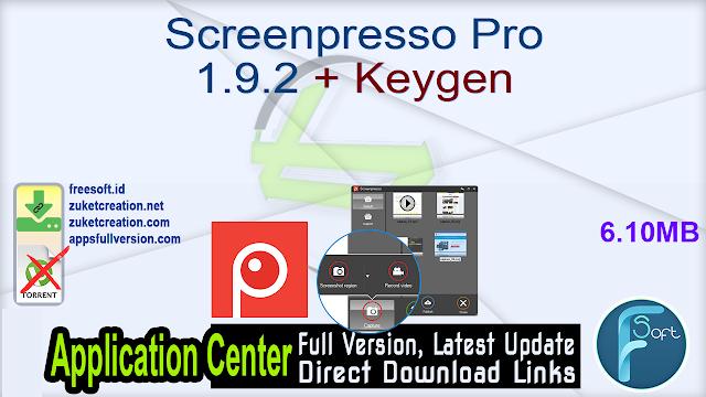 Screenpresso Pro 1.9.2 + Keygen