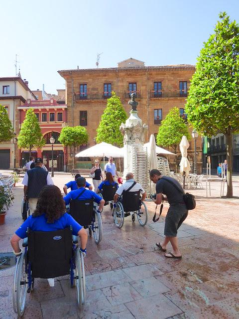Casco Antiguo de Oviedo en silla de ruedas