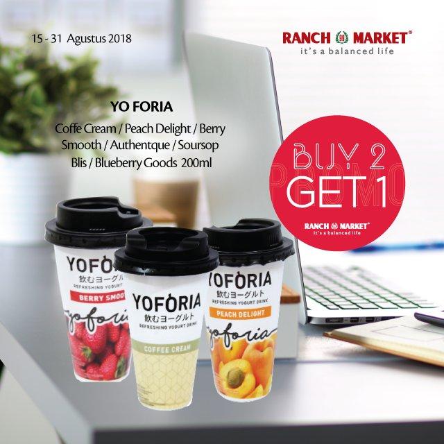 RanchMarket - Proo Yogburt Buy 2 Get 1 Free (s.d 31 Agustus 2018)