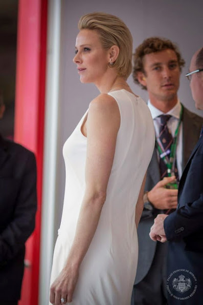 Princess Charlene Style's Christian Dior Pumps and Akris Dresses
