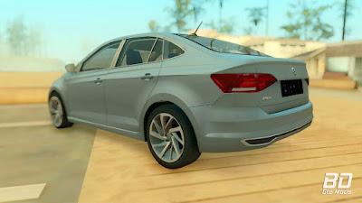 Download do mod Volkswagen Polo 2019 para o jogo GTA San Andreas PC traseira