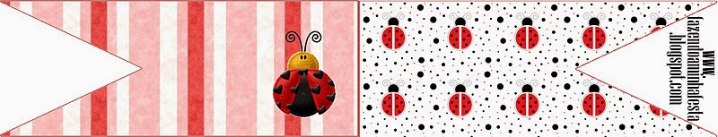 Food Toppers or Flags of Ladybugs.