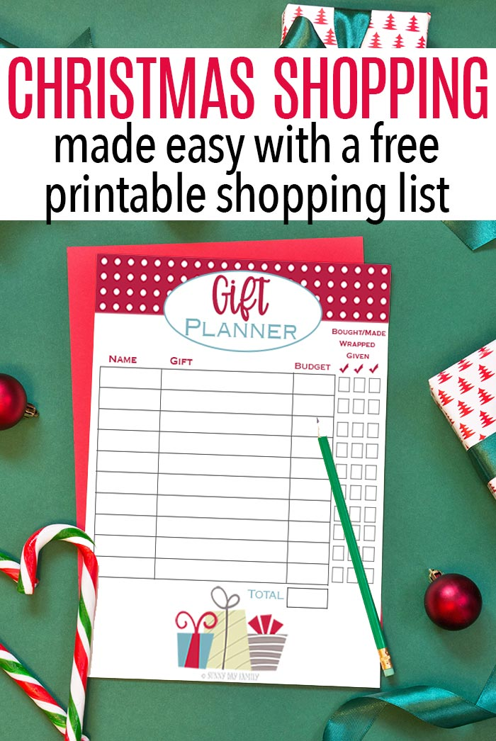 Tips for easy Christmas shopping and a free printable gift list! #Christmasshopping #giftideas #Christmasplanning