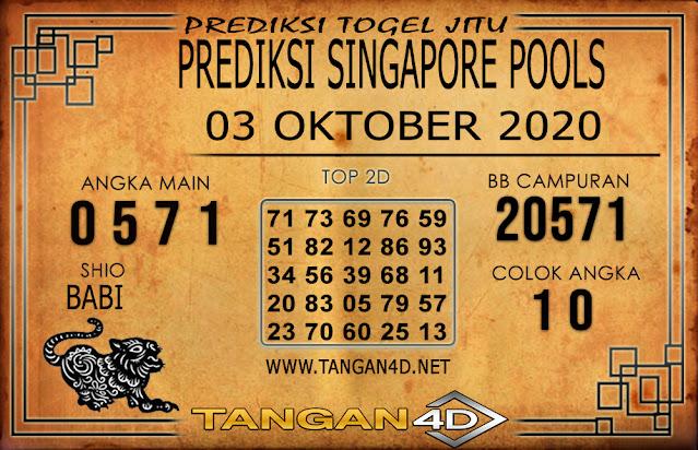 PREDIKSI TOGEL SINGAPORE TANGAN4D 03 OKTOBER 2020