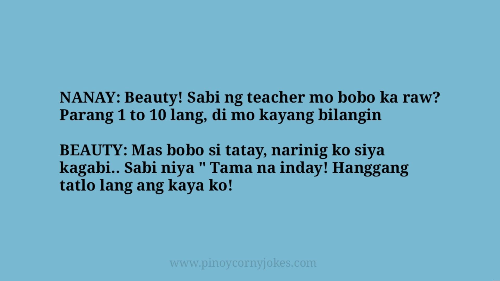 beauty jokes pinoy tanga