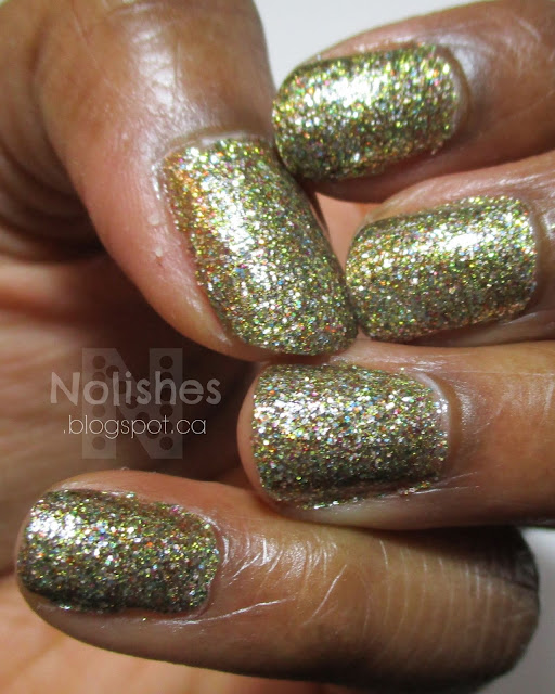Gold glitter polish from OPI's Holiday 2010 'Burlesque Collection'