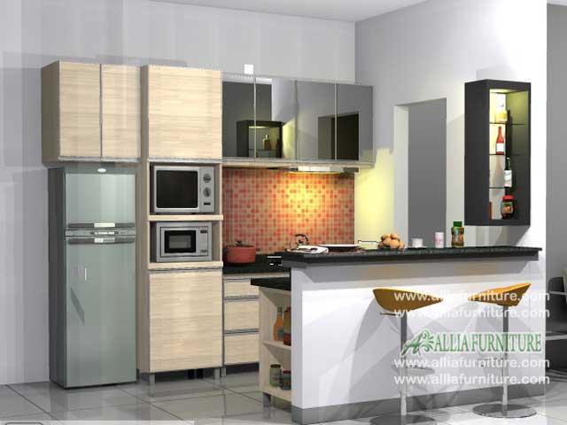 kitchen set meja bar minimalis fresh