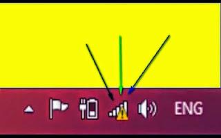 حل مشكلة المثلث الأصفر الظاهر عند الاتصال بالإنترنت