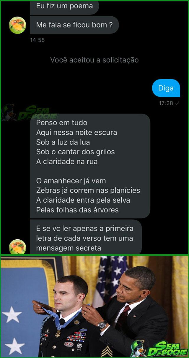 ESSE SOLDADO ESTÁ EM UM NÍVEL ACIMA DE TODOS