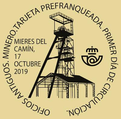 Matasellos PDC para la Tarjeta prefranqueada de El minero