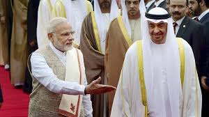 The chief guest of republic day 2017 with Prime Minister Narendra Modi