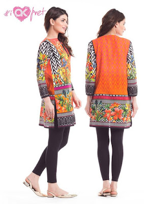 Alkaram digital kurti designs 2017 for girls
