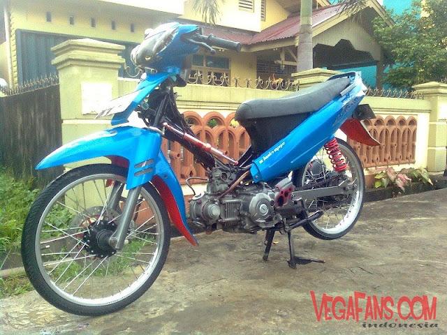 Modifikasi Vega R New Biru Modif Stadar Rasa Racing