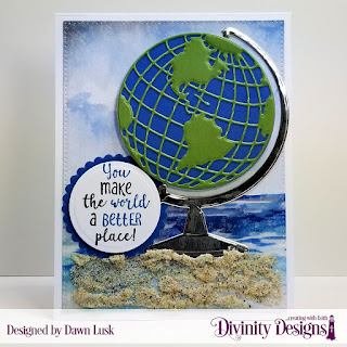 Color My World_ Custom Dies_ Globe _ Stand_ Circles_ Scalloped Circles_ Pierced Rectangles_ Paper Collections_ By the Shore_ Old Glory_ Christmas 2018